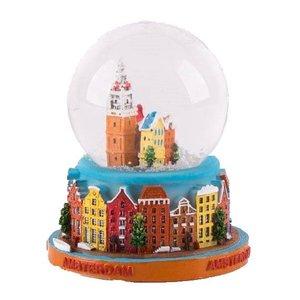 Typisch Hollands Sneeuwschudbol - Amsterdam 7 cm