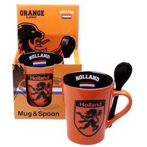 Typisch Hollands Mok met Lepel in Giftbox
