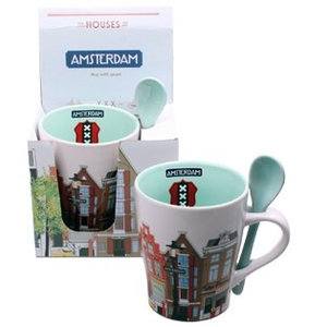 Typisch Hollands Mug with Spoon Amsterdam