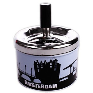 Typisch Hollands Cannabis Items Asbak Amsterdamse Grachten
