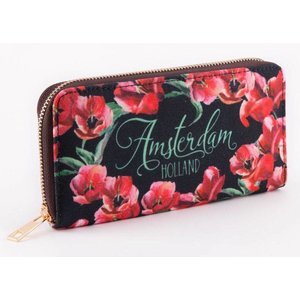 Typisch Hollands Ladies - Wallet - Tulips Red - Black
