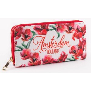 Typisch Hollands Ladies - Wallet - Red Tulips - Pink