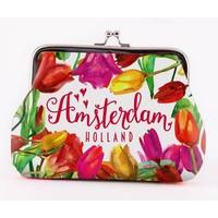 Typisch Hollands Portemonnee Holland - Tulpen - Groot