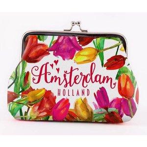 Typisch Hollands Wallet Holland - Tulpen - Groß