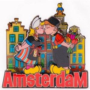 Typisch Hollands Magnet - Kuspaar in Amsterdam