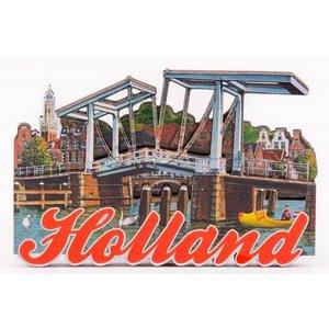 Typisch Hollands Magnet - Haarlem - Zugbrücke
