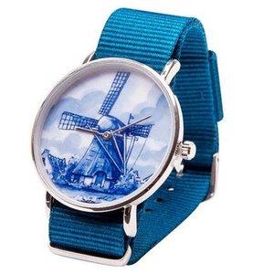 Typisch Hollands Delfts blauw Horloge - Molen