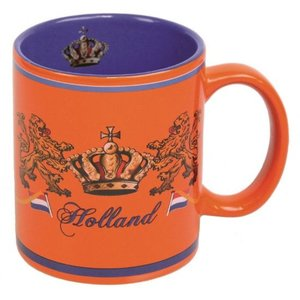 Typisch Hollands Orange Kaffeetasse - Krone