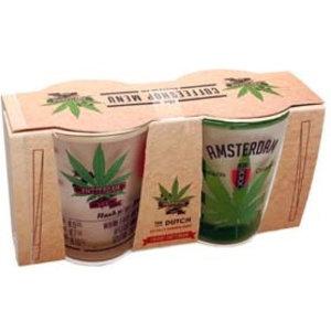 Typisch Hollands Shotglasset A'dam Coffeeshop Menu