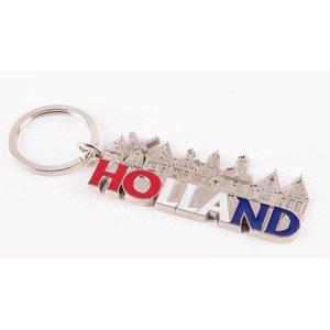 Typisch Hollands Sleutelhanger Holland zilver