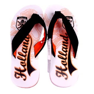 Typisch Hollands Badslippers Holland - White Orange