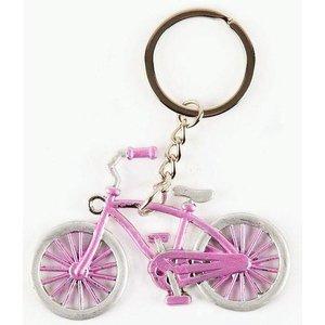 Typisch Hollands Keychain bicycle pink Amsterdam
