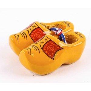 Typisch Hollands Klompjes geel Boerenbies 6 cm
