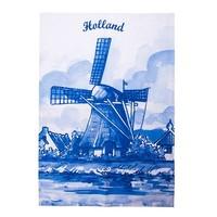 Typisch Hollands Theedoek - Molens - Delfts