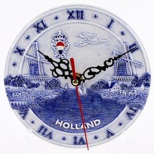 Typisch Hollands Wanduhr Delfter - Holland