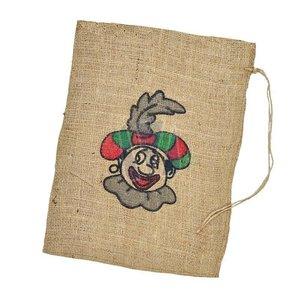 Typisch Hollands Jute bag Black Piet 30 x 40 cm