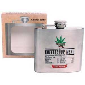 Typisch Hollands Hipflask - Aluminium - Coffee