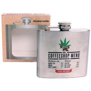Typisch Hollands Taschenflasche - Aluminium - Coffeeshop