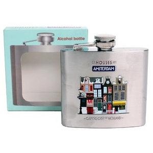 Typisch Hollands Pocket bottle - Aluminum - Amsterdam