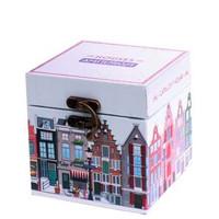 Typisch Hollands Houten bewaarkistje - Huisjes Amsterdam