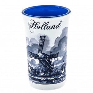 Typisch Hollands Schnapsglas Holland Blau