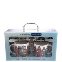 Typisch Hollands Geschenkset van 2 Mok & Schotel + Lepel