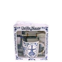 Typisch Hollands Mok,lepel,schotel Holland Delfts blauw