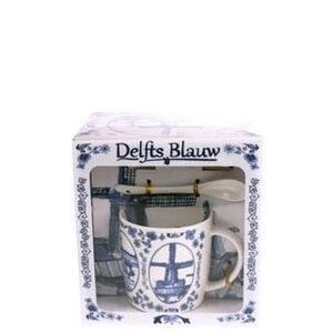 Typisch Hollands Mug, spoon, dish Holland Delft blue