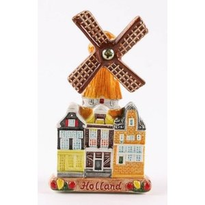 Typisch Hollands Magneet Molen-Holland (keramiek)