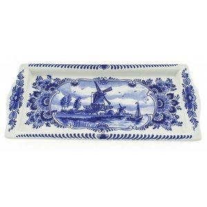 Typisch Hollands Delft's blue cakeschaal