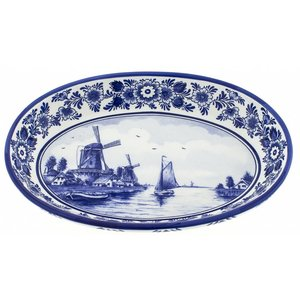 Typisch Hollands Serveerschaal Delft Blue