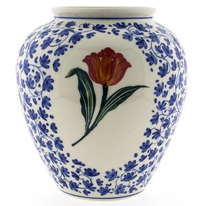 Typisch Hollands Bolvaas - orange tulip - Delft blue