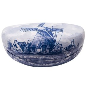 Typisch Hollands Glass case Large - Delft blue