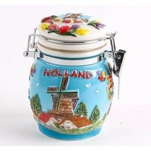 Typisch Hollands Bewaarpotje keramiek 10 cm Holland
