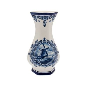 Typisch Hollands Vase Zeskant - Mill - Delft blue