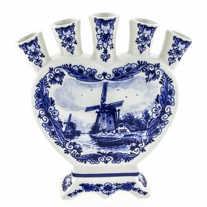 Typisch Hollands Delft Blue Tulips Vase - Delft Blue