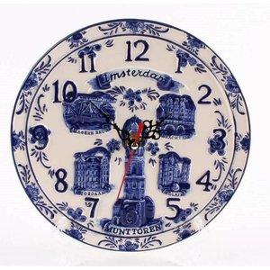 Typisch Hollands Wall clock Amsterdam 15 cm
