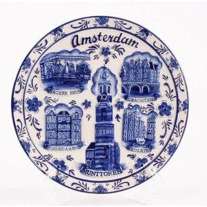 Typisch Hollands Wandbord Amsterdam 20 cm