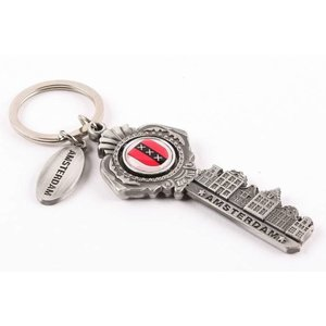 Typisch Hollands Key ring cap opener Amsterdam tin