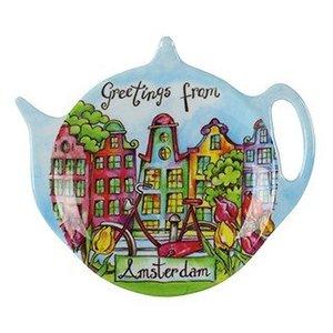 Typisch Hollands Theeschoteltje - Amsterdam - Grachtenhuisjes