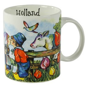 Typisch Hollands Beker colorful Holland - Boeren koppel - Koe