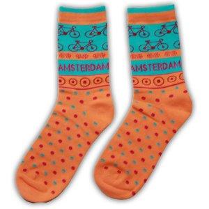 Robin Ruth Fashion Ladies socks - Orange - Bike