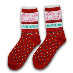 Robin Ruth Fashion Ladies socks - Red - Bike