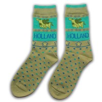 Robin Ruth Fashion Dames sokken - Koeien - Groen