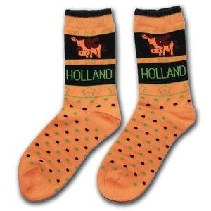 Robin Ruth Fashion Ladies socks - Cows - Orange