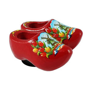 Typisch Hollands Magnet Clogs Red