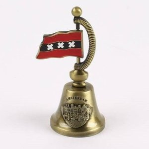 Typisch Hollands Handbell with Flag bronze - Amsterdam