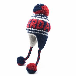 Robin Ruth Fashion Amsterdam hat - Cable pattern - Navy / Red