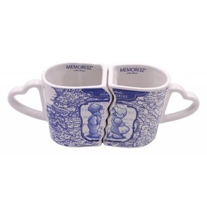 Typisch Hollands Delft blue mug set d`luxe