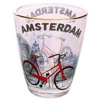 Typisch Hollands Schnapsglas - Bike - Amsterdam